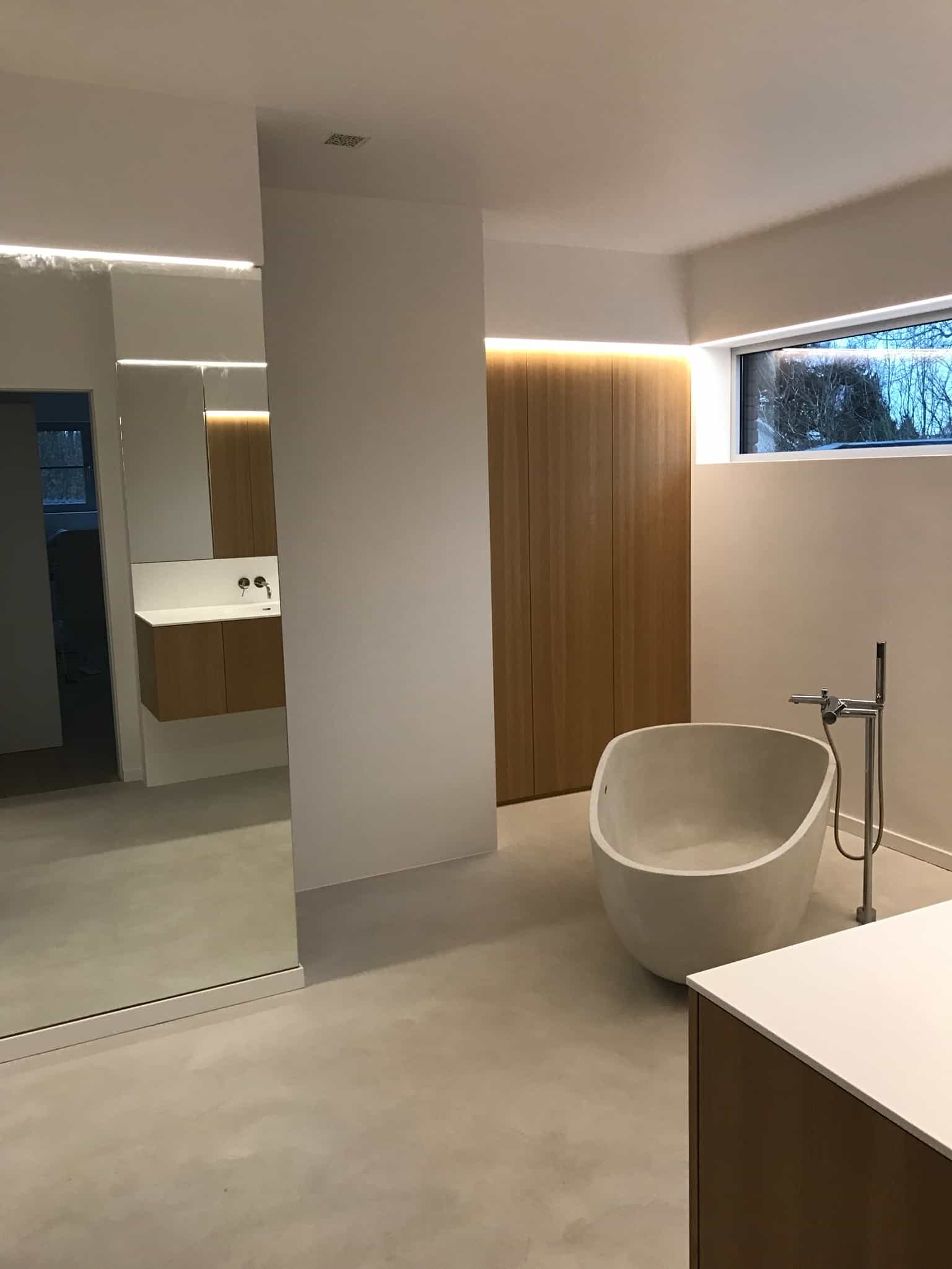 Tijdloze badkamer – Mortex – Lochristi | DL Interieur